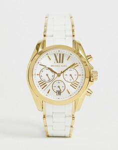 Золотисто-белые женские часы с хронографом Michael Kors MK6578 - Золотой