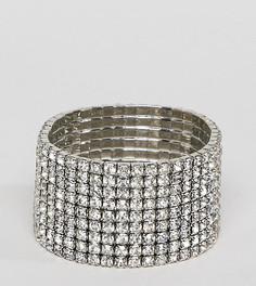 Эластичный браслет с камнями DesignB London - Серебряный