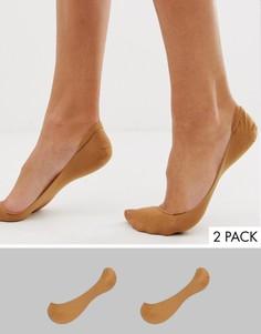 2 пары невидимых носков ASOS DESIGN - Бежевый