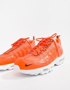 Оранжевые кроссовки-премиум Nike Air Max 95 538416-801 - Оранжевый