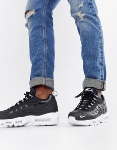 Черные кроссовки Nike Air Max 95 Premium 538416-020 - Черный