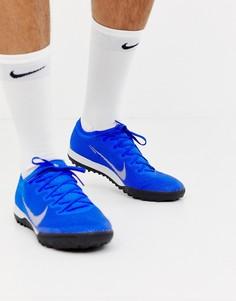 Синие кроссовки Nike Football Vapor X 12 Pro astro turf AH7388-400 - Зеленый