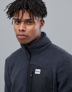 Серая флисовая куртка на молнии Protest Jumping - Серый
