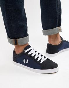 Темно-синие кроссовки Fred Perry Baseline - Темно-синий