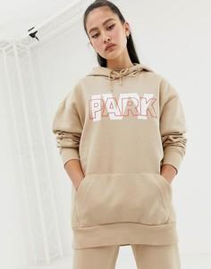 Худи бежевого цвета с логотипом Ivy Park - Бежевый