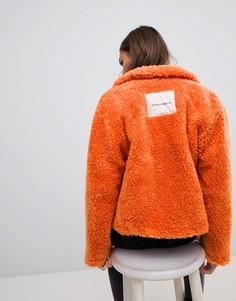 Оранжевая куртка из искусственного меха Cheap Monday Function - Оранжевый