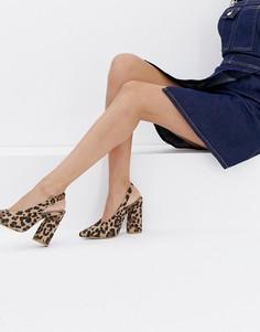 Туфли на блочном каблуке с леопардовым принтом RAID Brook - Мульти