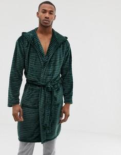 Зеленый халат с капюшоном River Island - Зеленый