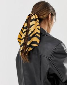 Головной платок с тигровым принтом ASOS DESIGN - Мульти