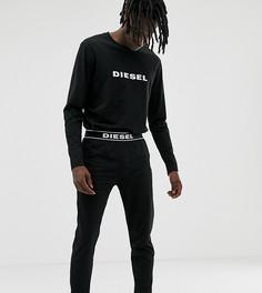 Черный пижамный комплект с логотипом Diesel - Черный
