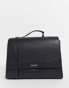 Сумка-сэтчел с верхней ручкой Calvin Klein - Черный