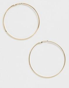Большие серьги-кольца Pieces - Золотой