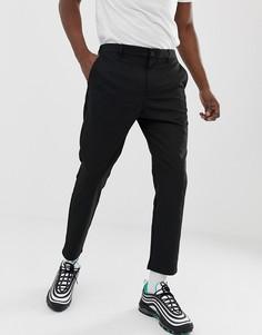 Черные укороченные облегающие брюки Bershka - Черный