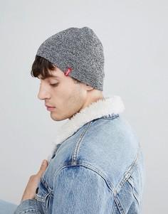 Серая шапка-бини Levis Otis - Серый