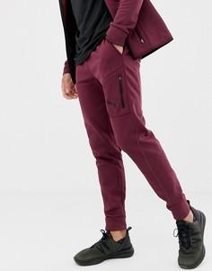 Бордовые брюки Puma Training EvoStripe - Красный