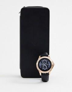 Смарт-часы с кожаным ремешком Emporio Armani ART5012 Alberto - Черный