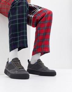 Низкие кожаные кроссовки на толстой подошве Diesel S-Danny LC - Серый