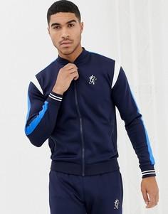 Темно-синяя спортивная куртка в стиле бомбера Gym King - Темно-синий