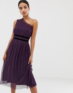 Платье миди с плиссировкой Dolly & Delicious - Фиолетовый