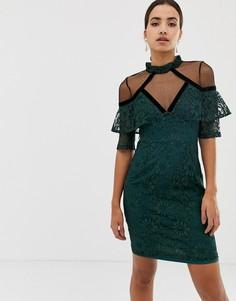 Кружевное платье с рукавами 3/4 Dolly & Delicious - Зеленый