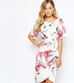 Платье с завязкой спереди и рукавами‑кимоно Closet - Мульти