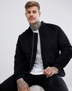 Черная дутая куртка boohooMAN - Черный