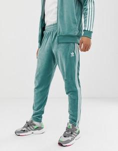 Зеленые велюровые спортивные джоггеры adidas Originals - Зеленый