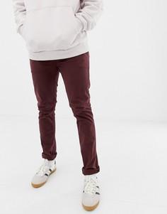 Узкие чиносы сливового цвета Nudie Jeans Co - Фиолетовый