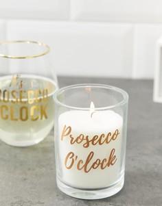 Розово-золотистая свеча с надписью prosecco Candlelight - Розовый