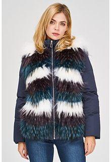 Комбинированная шуба из меха енота Virtuale Fur Collection