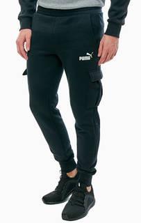 Хлопковые брюки джоггеры с карманами Puma