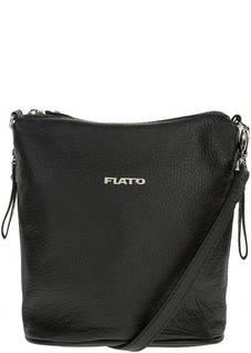 Маленькая кожаная сумка с карманами Fiato