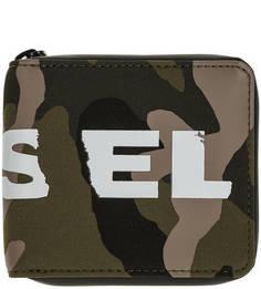 Текстильный кошелек в стиле милитари Diesel