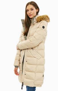 Зимний пуховик с карманами и капюшоном Marc Opolo