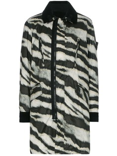 Stone Island куртка с зебровыми полосками и логотипом