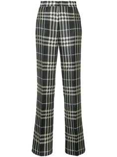 Self-Portrait клетчатые брюки прямого кроя