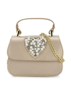 Monnalisa сумка на плечо с декорированным сердцем