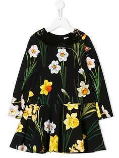 Dolce & Gabbana Kids платье с принтом Narcisi