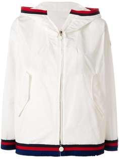 Moncler куртка на молнии с контрастной отделкой
