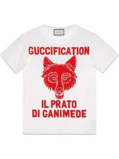 """Gucci футболка с принтом """"Il Prato di Ganimede Guccification"""""""