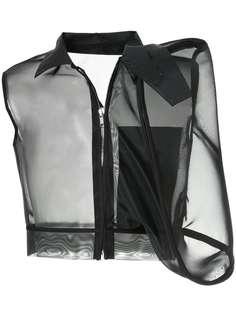 Rick Owens куртка с объемным карманом из подиумной коллекции