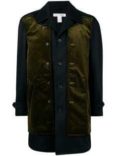Comme Des Garçons Shirt однобортное пальто с многослойным дизайном