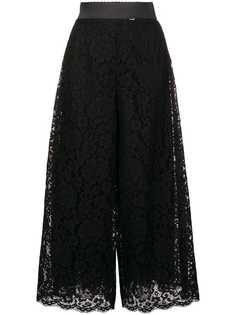 Dolce & Gabbana укороченные брюки из цветочного кружева