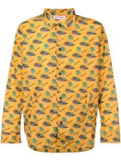 Palm Angels куртка-рубашка с рисунком на тему островов