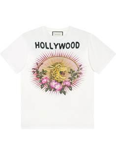 Gucci футболка с леопардовым принтом