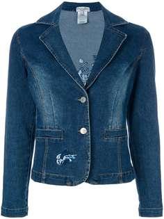 Christian Dior Vintage джинсовая юбка с вышивкой
