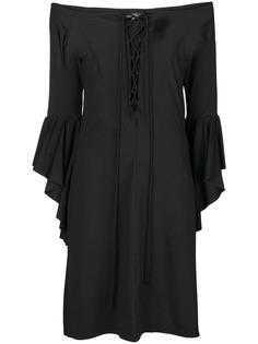 Fisico пляжное платье с открытыми плечами и шунровкой