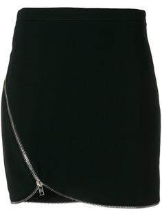 Alexander Wang off-center zipped skirt