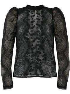 Self-Portrait кружевная блузка с пышными рукавами