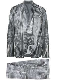 Yohji Yamamoto Vintage костюм с эффектом кожи